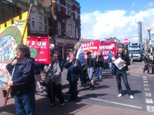 Marchers Head to Ruskin House