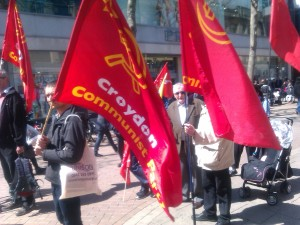 Marching Through Croydon Town Centre