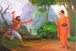 Angulimala Confronts the Buddha