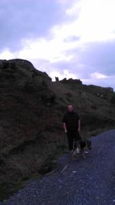 Adrian & Xena - our faithful German Shepherd Dog