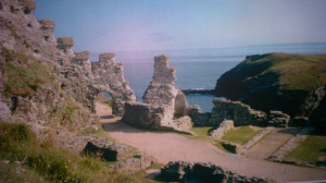 Ruins of Tintagel Castle - North Cornwall