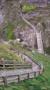 Steep steps leading up to the castle