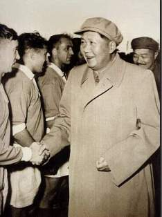 Mao Zedong & He Long Meet USSR Players