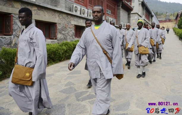 African Buddhist Monks at the Shaolin Temple