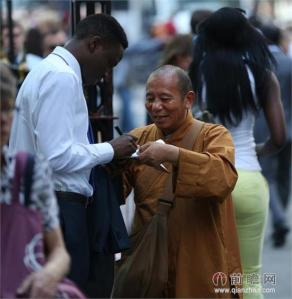 Fake Chinese Buddhist Monk on the Streets of New York