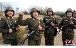 DPRK Woen Soldiers
