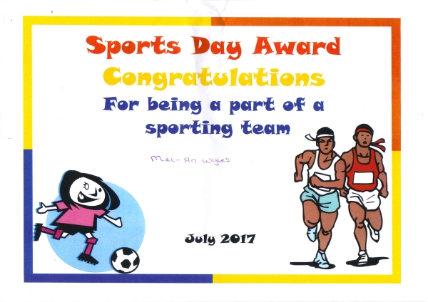 sports day cert