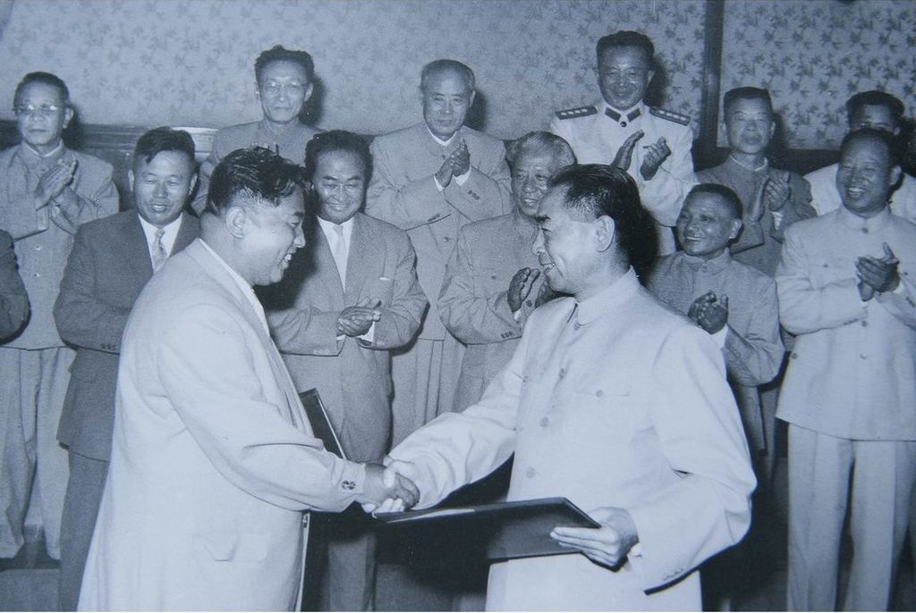 Signing_Sino-North_Korean_Mutual_Aid_and_Cooperation_Friendship_Treaty,_July_1961
